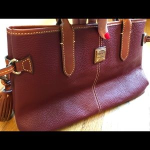 Dooney & Bourke Small Tassel Leather Tote